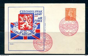 Slovakia 1942 Post card  Army and Air force in Great Britain Field Post  11270