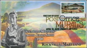 19-074, 2019, Post Office Murals, Digital Color  Postmark, FDC, Sugarloaf Mounta