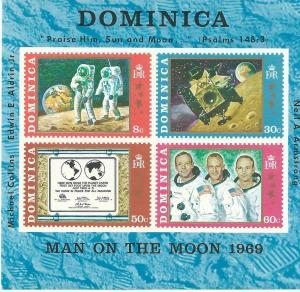 Dominica #296a Space Souvenir Sheet (MNH)  CV $2.50
