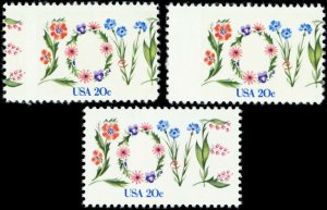 1951, Mint NH Two Misperfed Errors 20¢ Love Stamps - Stuart Katz