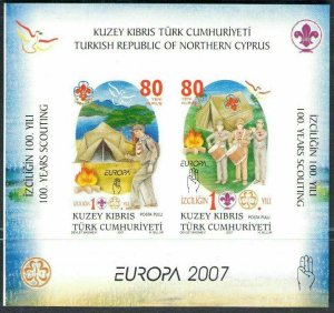 TURKISH NORTHERN CYPRUS/2007 - (Block) EUROPA CEPT, MNH