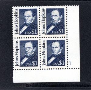 US #2194,  Plate # Block, VF, MNH, Great Americans, CV $10.00 ...... 6785629