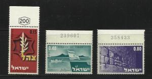 Israel 1967 Scott# 345-47 MNH?