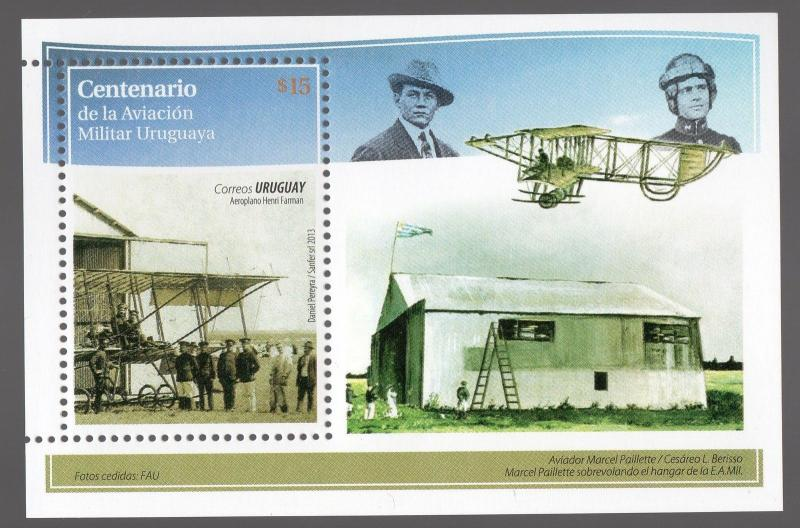 Military aviation pilots Farman plane airplane NOVELTY URUGUAY MNH STAMP