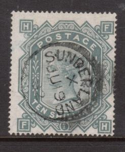 Great Britain #74 (SG #128) Used Fine With Sunderland July 19 1882 CDS Cancel
