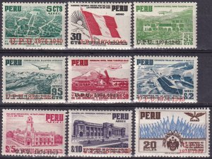 Peru  #C94-102 MNH CV $19.70  (Z4355)