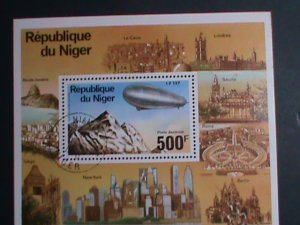 NIGER- 1970 AIR ZEPPELIN  CTO  S/S SHEET-VERY FINE WE SHIP TO WORLD WIDE