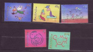 J23765 JLstamps 1998 australia set mnh #1685-9 cartoons