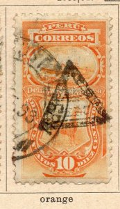 Peru 1883-84 Early Issue Fine Used 10c. Optd NW-11813