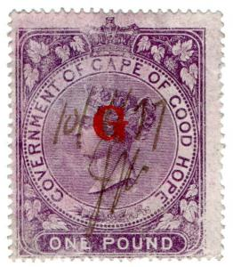 (I.B) Griqualand West Revenue : Duty Stamp £1