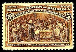 U.S. COLUMBIAN ISSUE 234  Mint (ID # 43819)