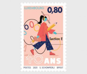 """Luxembourg stamps 2020 - 40 Years Of The """"Arts"""" Section In Secondary Education"""