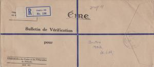 Ireland Official Free Mail 1947 Baile Atha Cliath Registered to Boston, Mass....