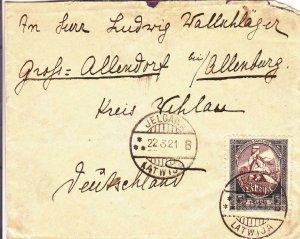 1921, Jelgava, Latvia to Germany (24495)