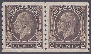 Canada Scott #206 Mint Pair LH VF