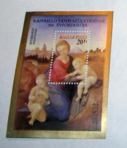 Hungary - 2792, MNH S/S. Esterhazy Madonna. SCV - $3.00