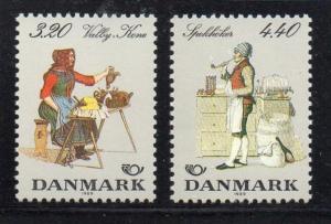 Denmark Sc 868-9 1989 Nordic Cooperation stamp set mint NH