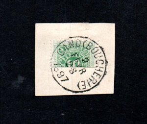 Belgium Postage due bisect on small piece
