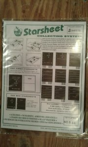 G&K Starsheet 2 sided Black Stockpages with 4 pockets --new/sealed package of 5