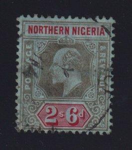 Northern Nigeria Sc #36 (1910-11) 2/6d black & red King Edward VII VF Used