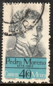 MEXICO 987, Pedro Moreno Hero War for Independence Used. VF. (716)