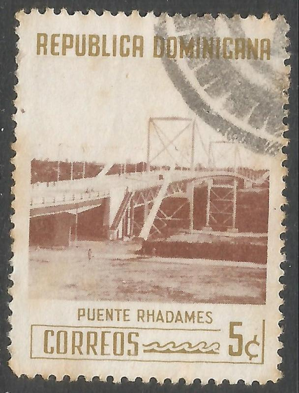 DOMINICAN REPUBLIC 521 VFU BRIDGE 541G-3