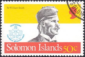 Solomon Islands # 488 used ~ 50¢ Sir William Smith, Scouting
