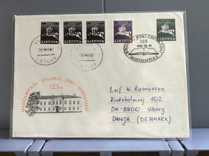 Lithuania 1992  to Denmark   stamps cover R29356