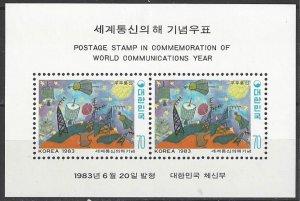 South Korea 1344a  MNH  World Communications Year 1983