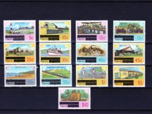 Nevis 1980 Definitives ovptd (13) MNH Sc # 100-112