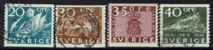 Sweden SC# 254, 256-258, Mint Hinted and Used -  Lot 010217