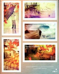 Finland Stamp Sc#1445 -(2013) - S/Sheet -Autumn Scenes