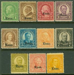 EDW1949SELL : USA 1929 Scott #658-68 Mint Original Gum Hinged. Catalog $216.00.