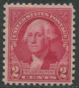 USA- Scott 707 - Washington Bicentennial -1932 - MLH - Single 2c Stamp
