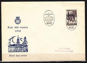 Finland, Scott cat. 356. Marching Drummers issue. First day cover. ^
