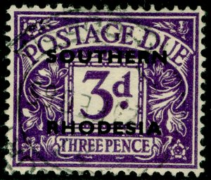 SOUTHERN RHODESIA SGD4, 3d violet, FINE USED.