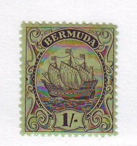 Bermuda Sc 93 1934 1/ brown black Caravel stamp mint