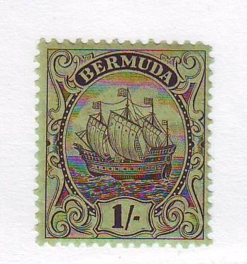 Bermuda Sc 93 1934 1/ brown black Caravel stamp mint