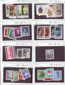 Z640 JL stamps germany DDR mnh with sets on sales cards, been checked & sound