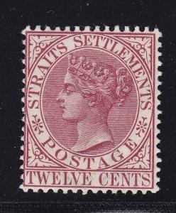 Straits Sett. Scott # 52 VF OG lightly hinged nice color scv $ 80 ! see pic !