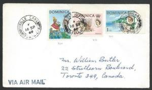 DOMINICA 1969 cover to Canada - VIEILLE CASE cds...........................50260