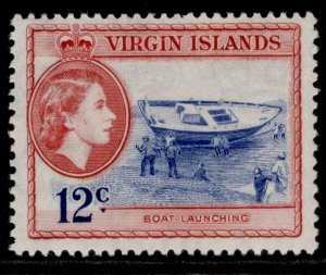 BRITISH VIRGIN ISLANDS QEII SG156, 12c ultramarine & rose-red, M MINT.
