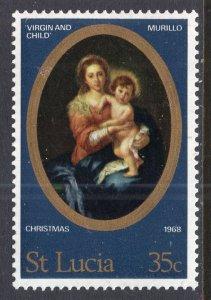 St Lucia 240 Christmas MNH VF