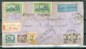 SAIGON-MARSEILLE CRASH COVER...MARCH 28 1932..FULL DETAILS INCLUDED(FRENCH)