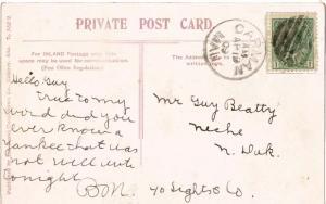 Canada 1c KEVII 1909 Carman, Man. PPC to Neche, N. Dak.