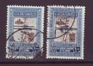 J16805 JLstamps 1953 jordan used #304 wide and narrow space ovpt