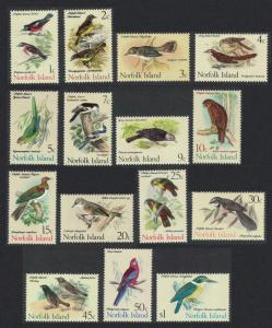 Norfolk Birds 15v SG#103-117 SC#126-140 MI#105-119