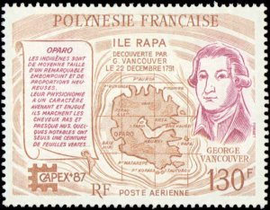 French Polynesia #C225, Complete Set, 1987, Stamp Show, Never Hinged