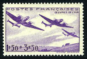 France B130, MNH. Planes over fields, 1942