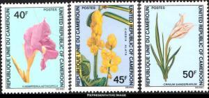 Cameroun Scott 581-583 Mint never hinged.